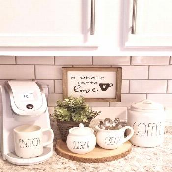 A whole latte love.Coffee Sign. Coffee Bar sign. Kitchen decor. Rustic sign. Rustic framed sign. Co