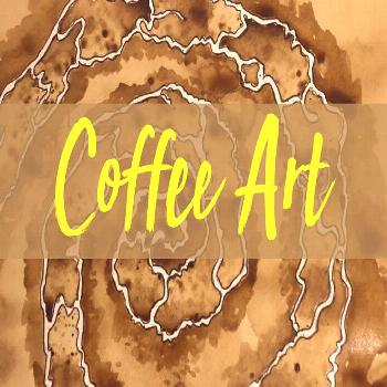 Coffee art is a great activity to do at home. Especially if you don't have any paint. This coff