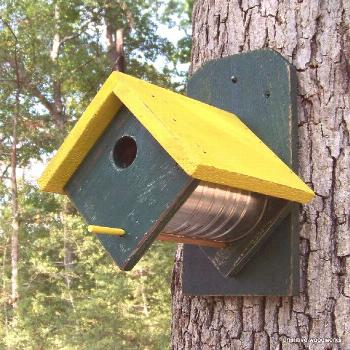 Coffee Can Birdhouse Primitive Rustic by PrimitiveWoodworks