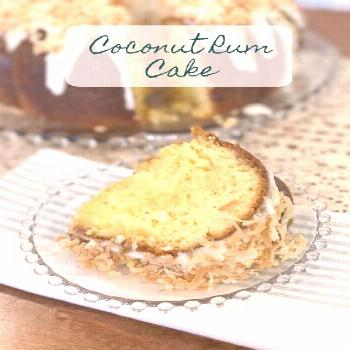 Crazy for Cookies and More: Coconut Rum Cake