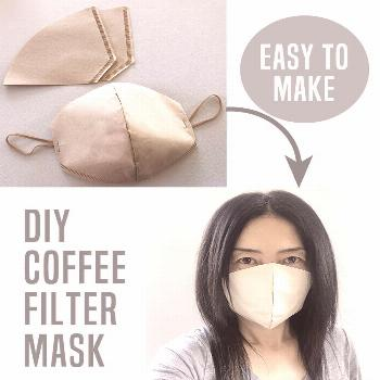 DIY Coffee filter face mask DIY Coffee filter mask - how to make disposable face masks using coffee