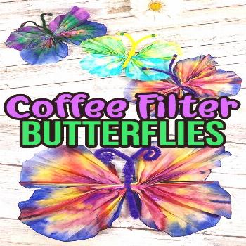 Easy Coffee Filter Butterfly Craft This Coffee Filter Butterfly craft is a fun spring art project f