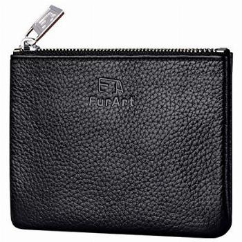 FurArt Genuine Leather Coin Purse,Change Purse With