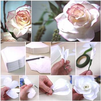 How to DIY Coffee Filter Rose