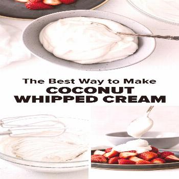 How to Make Coconut Whipped Cream Learn how to make coconut whipped cream! Coconut whipped cream is