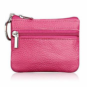 iToolai Women's Leather Small Coin Purse with Keychain, Mini