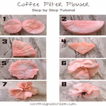 Learn how to make beautiful coffee filter flowers by following this simple step by step tutorial. T