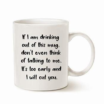 MAUAG Funny Quote Coffee Mug for Daughter Wife Friend, If I