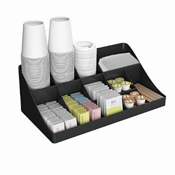Mind Reader 11 Compartment Breakroom Coffee Condiment