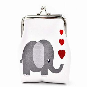 Pu Leather Coin Purse Cute Animal Elephant Wallet Bag Change