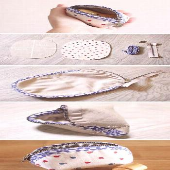 Rounded Zipper Pouch - Sewing Pattern & Tutorial; case, coin purse, DIY - handbags discount, small