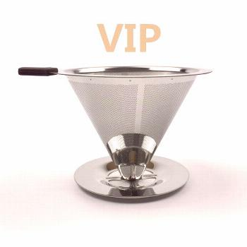 Stainless Steel Coffee Filter Holder Reusable Coffee Filters Dripper v60 Drip Coffee Baskets (Disco