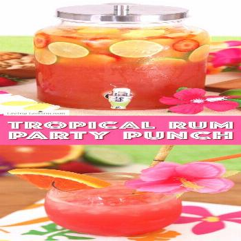 Summer Luau Party Ideas! Tropical rum punch is a delicious summer cocktail recipe for a luau party