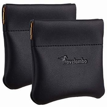 Travelambo Leather Squeeze Coin Purse Pouch Change Holder