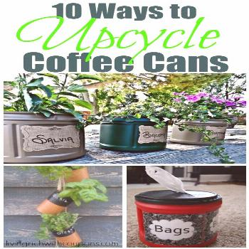 Upcycle Coffee Cans l Ways to Use Coffee Cans l Garden Hacks l Frugal Gardening l Save money garden