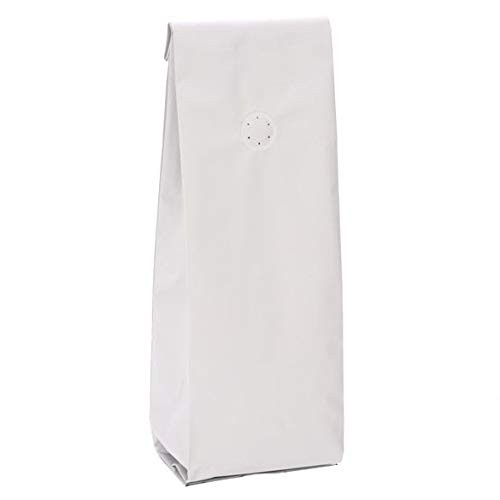 ClearBags Matte White Coffee Bag with Valve | Size 3 3/8quot x