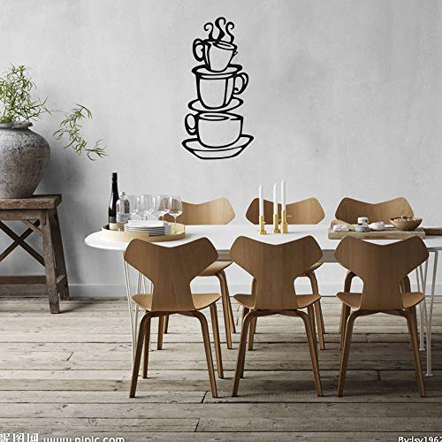 Coffee Wall Decal Vinyl Stickers, Removable Coffee Cup Art