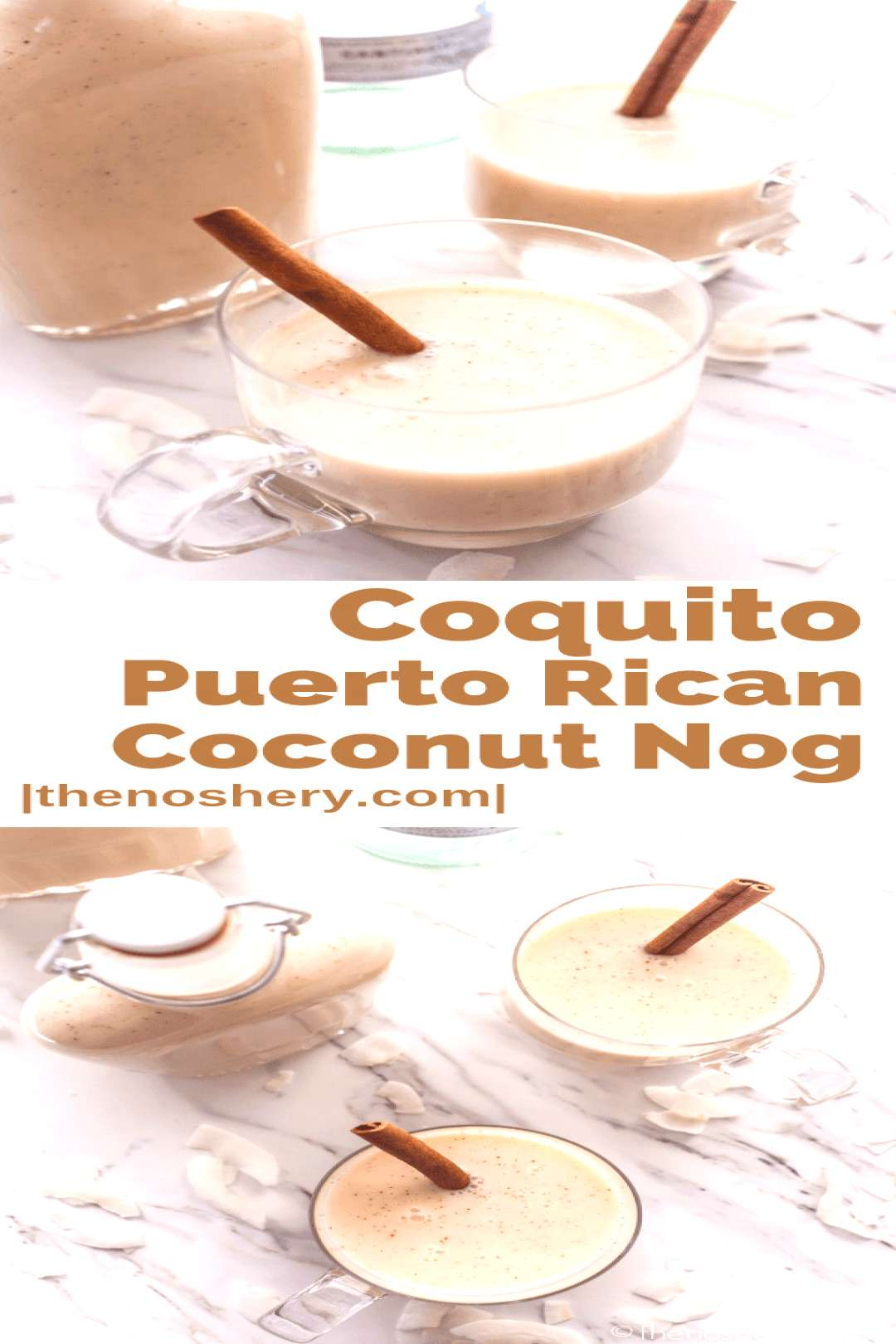 Coquito Puerto Rican Coconut Nog   Coquito is a creamy coconut rum drink that is essential to any
