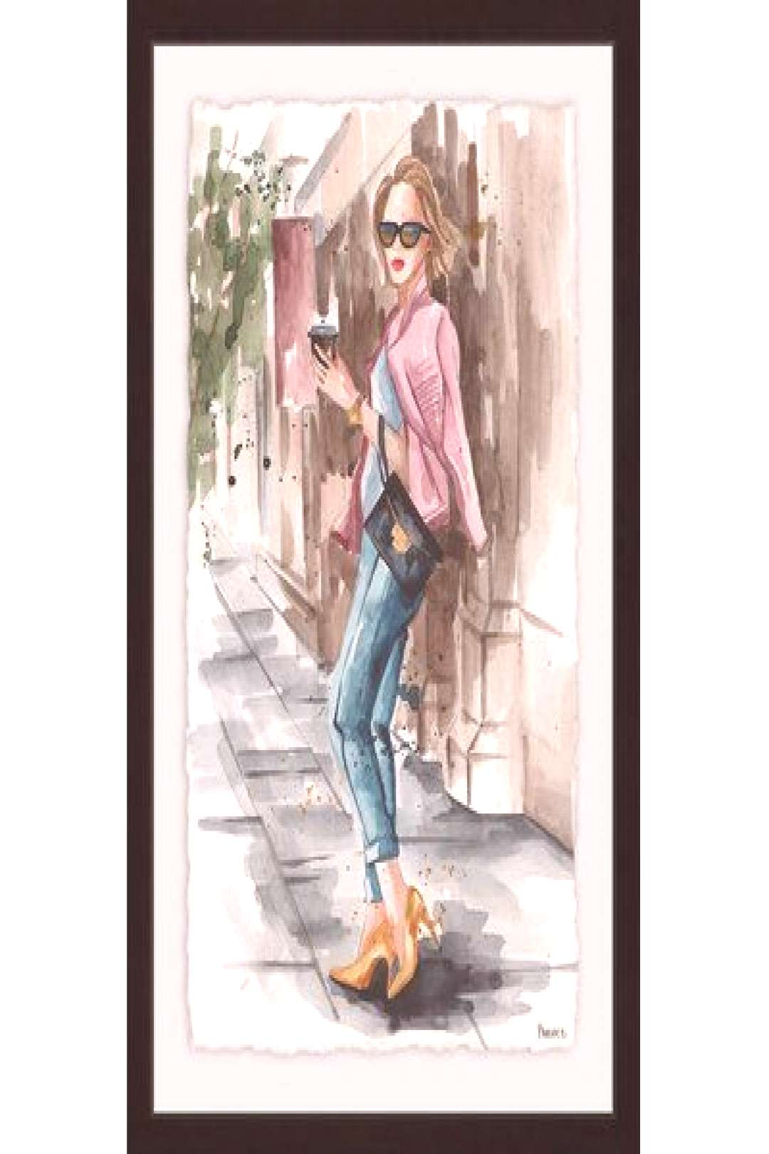 House of Hampton Casual Coffee Break II Picture Frame Print on Paper Size 30quot H x 20quot W x 1.5quot D