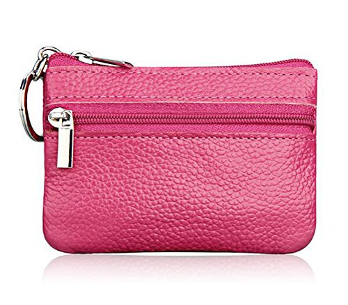 iToolai Womens Leather Small Coin Purse with Keychain, Mini
