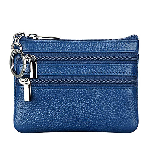 Womens Genuine Leather Coin Purse Mini Pouch Change Wallet
